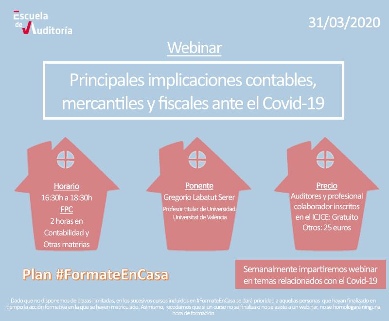 Principales implicaciones contables, mercantiles y fiscales ante el Covid-19