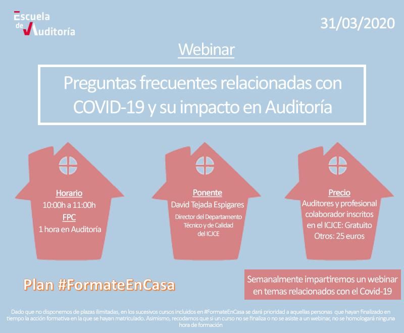 Preguntas frecuentes relacionadas con COVID-19 y su impacto en Auditoría